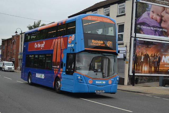 Diamond Bus NW Wright Streetdeck 40792 MX70AOU - Bury