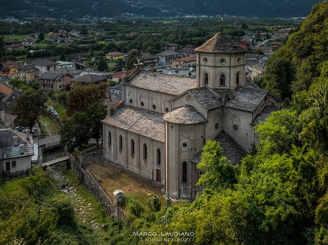 Vogogna, the parish church