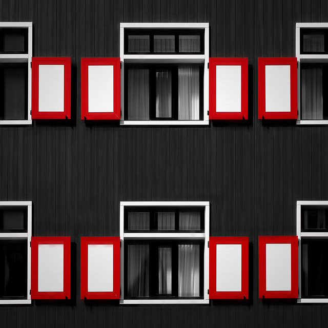 Red Rimmed Shutters