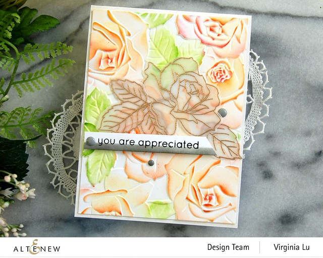 Altenew-PK Garden Rose-Antique Gold Embossing Powder -003