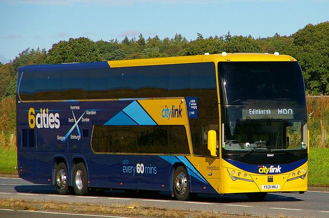 VOLVO B11RE Plaxton Panorama - 6 cities Scottish citylink Stagecoach Perth
