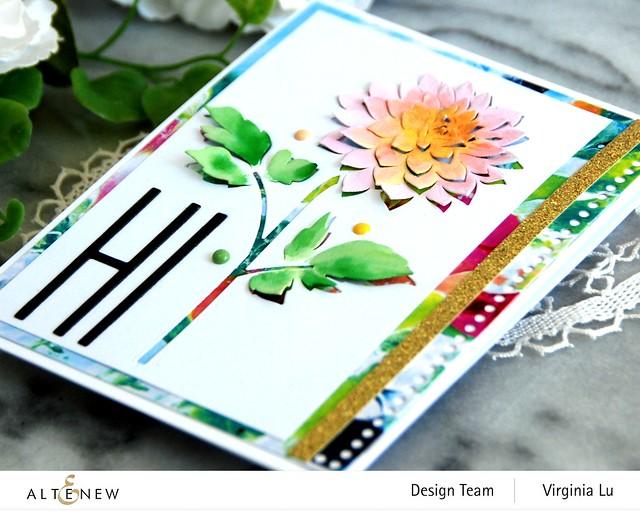 Altenew-Pop-up Dahlia Die-Mighty Alphabet Die-Mix & Match Frame Die-Inky Blot Paper pad-003