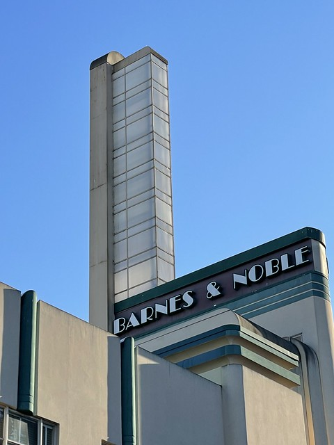 Tower on the former Rosenburg's Department Store built in 1937. Saved from demolition by Barnes and Noble. Downtown Santa Rosa, California.
