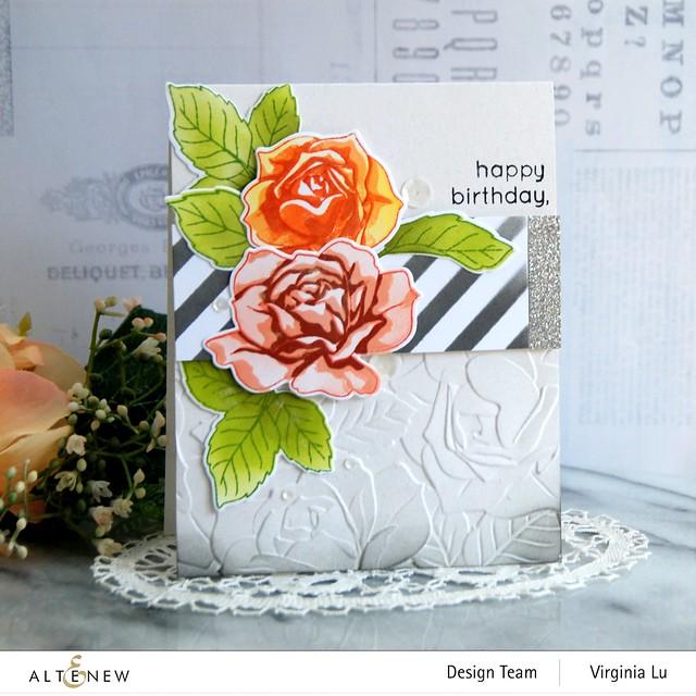 Altenew-PK Garden Rose-Glitter Cardstock Set - Dazzling Diamond -001