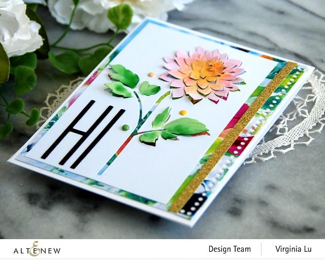 Altenew-Pop-up Dahlia Die-Mighty Alphabet Die-Mix & Match Frame Die-Inky Blot Paper pad-002