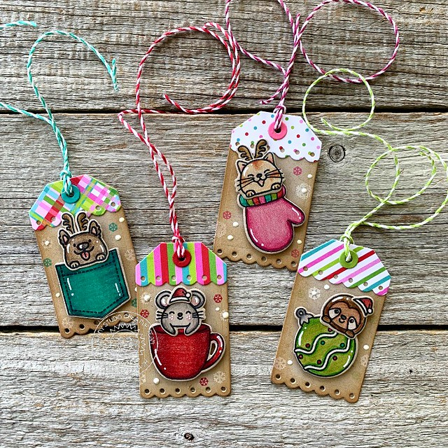 Christmas Critters Tags