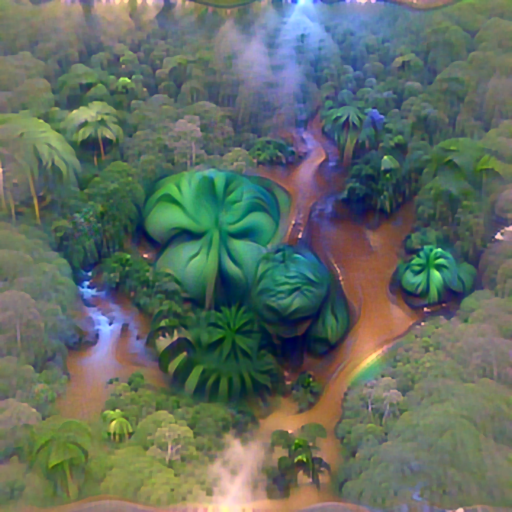 'a lush rainforest' PyramidVisions Text-to-Image