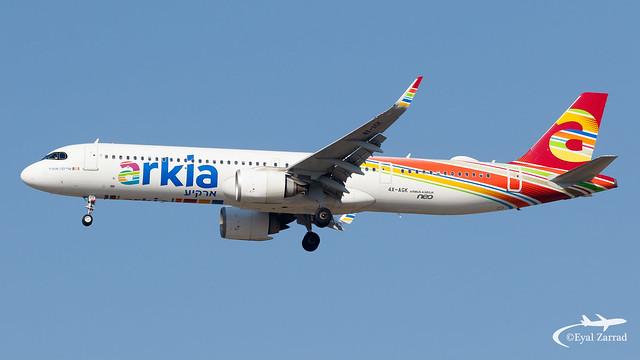 TLV - Arkia Airbus A321LR 4X-AGK