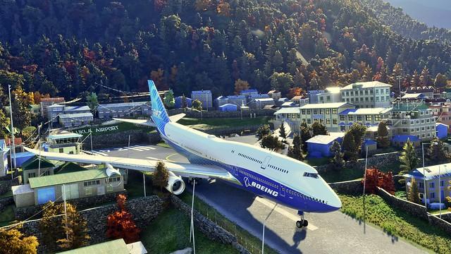 Boeing Jumbo Jet 474 zu groß für LUKLA Airport