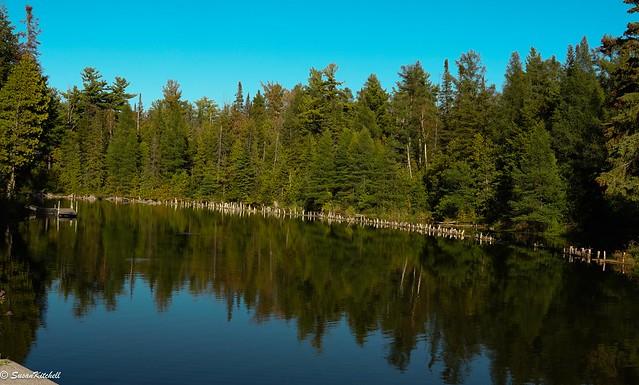 Fall reflections. L'étang Franklin.