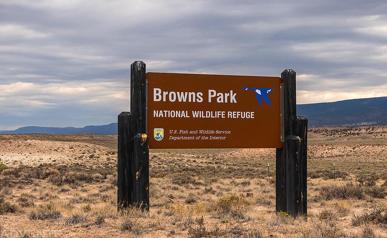 Browns Park NWR Sign
