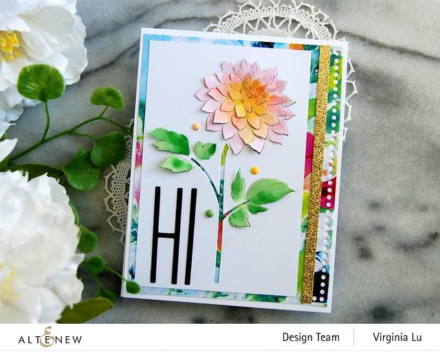 Altenew-Pop-up Dahlia Die-Mighty Alphabet Die-Mix & Match Frame Die-Inky Blot Paper pad-004