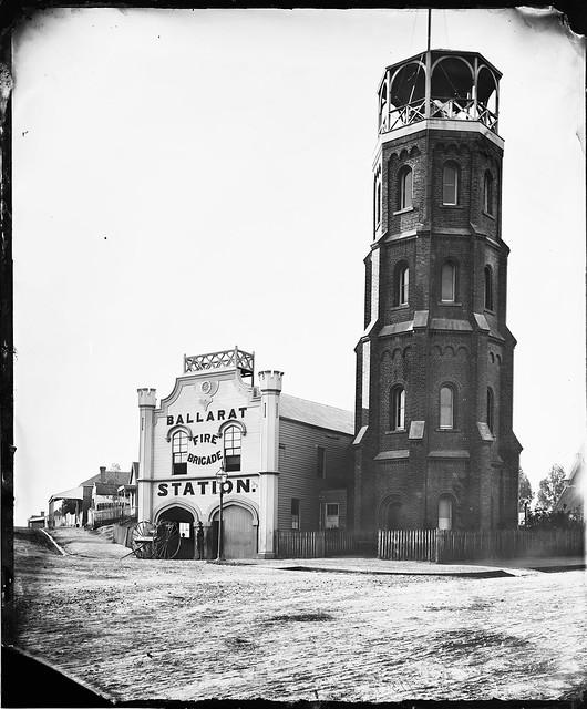 Ballarat Fire Brigade Station, Victoria, Australia, c. 1873