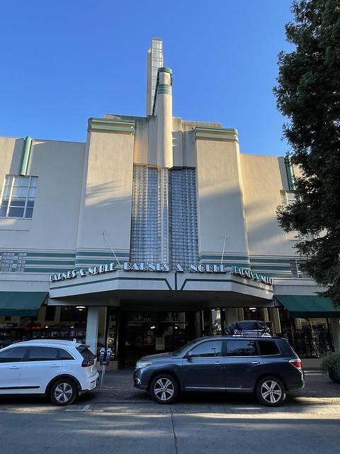Entryway of former Rosenburg's Department Store in Santa Rosa, California. Built in 1937. Now Barnes and Noble.