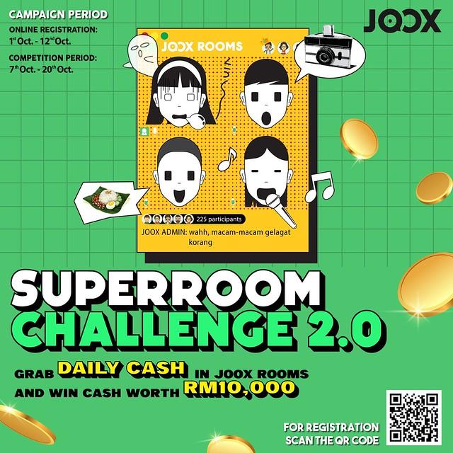 Terima Sambutan Ramai, Joox Kembali Dengan 'Joox Superroom Challenge 2.0!'