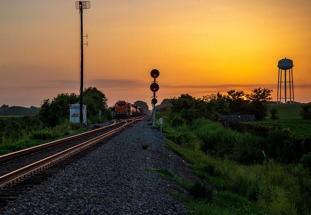 Sunset on the Memphis Sub