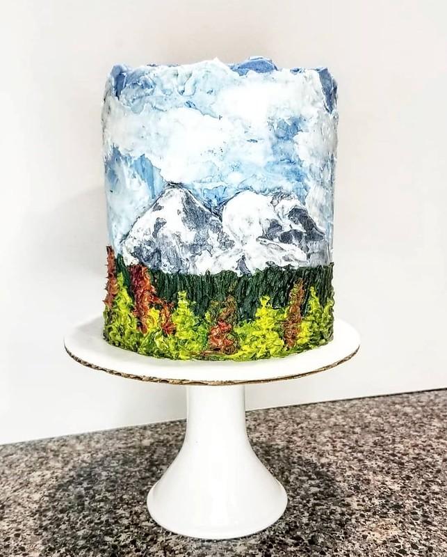 Cake by @amyamescakes