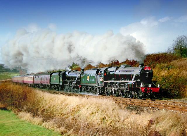 45407 and 45110 at Lambrigg, Cumbria,...... (re-scan).