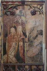 Loddon screen: Visitation and Nativity