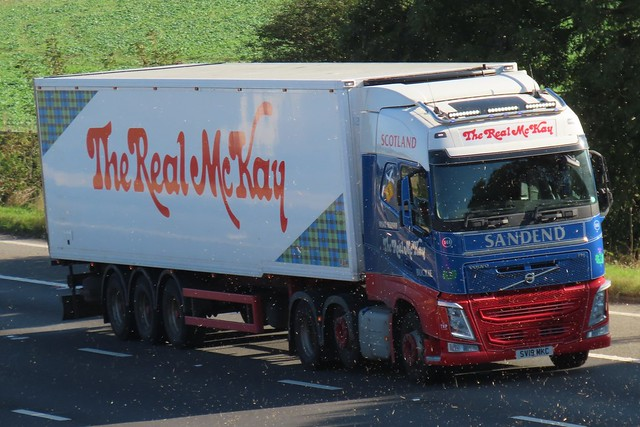 The Real McKay, Volvo FH (SV19MKC) On The M62 Westbound, Passing Rawcliffe Flyover