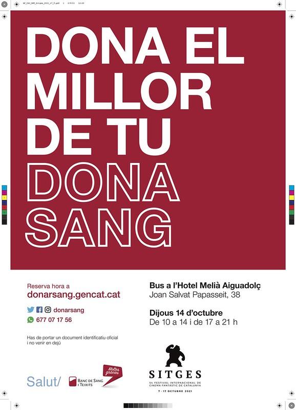 Dona sangre y te regalan una entrada en el Festival de Cine de Sitges