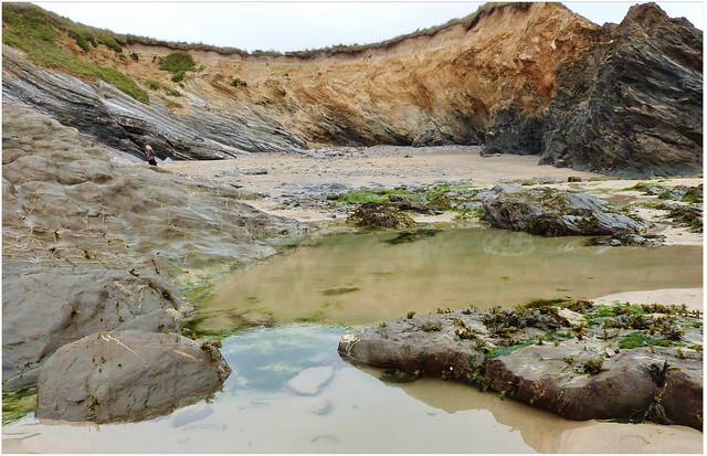Dollar Cove at low tide, Cornwall