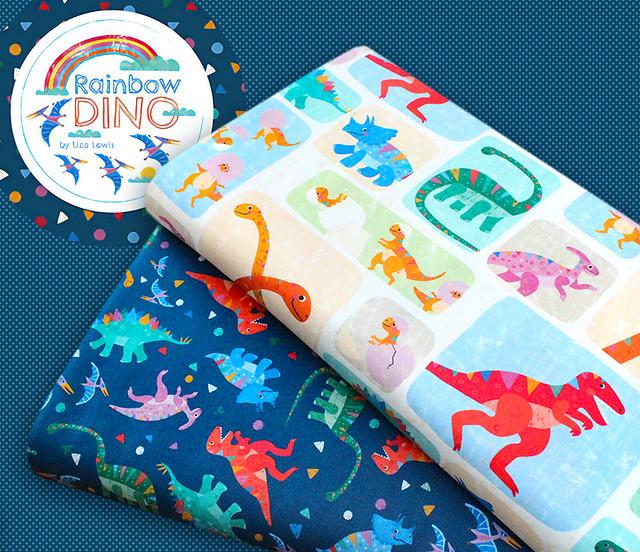 Michael Miller Fabrics Rainbow Dino