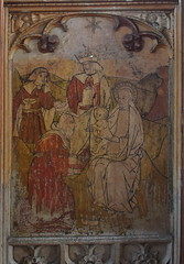 Loddon screen: Adoration of the Magi