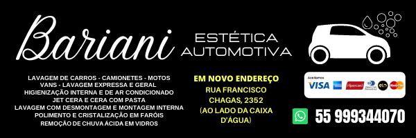 Bariani Estética Automotiva - em novo endereço