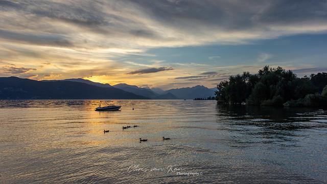 Sunset @ Lago Maggiore, Italy