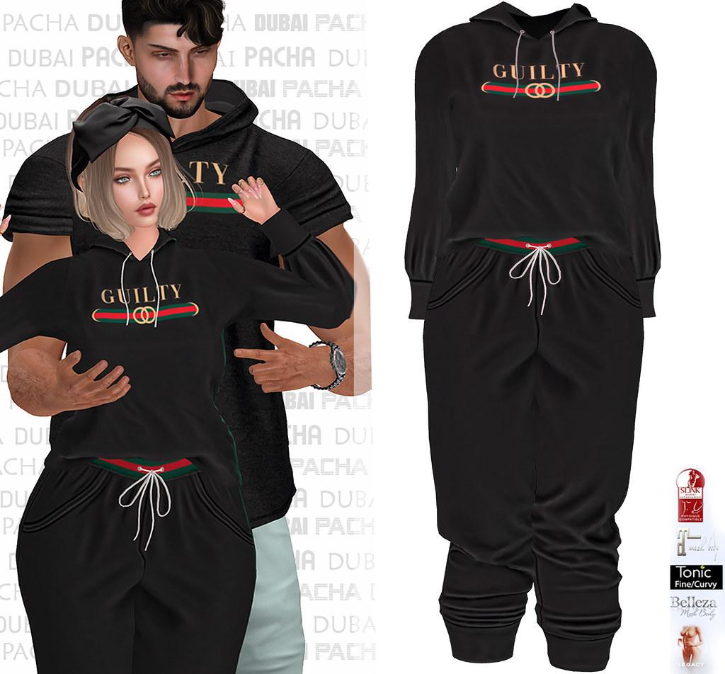 PACHA – Sweatpants and hoodie-GUILTY Black