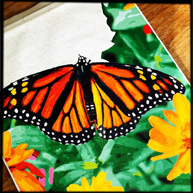 Butterfly Paint by Number Progress