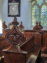 bench ends (William Perry of Clare, 1843)