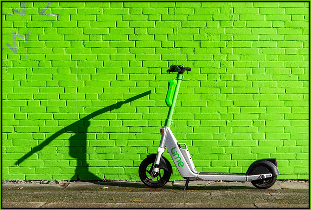 Lime on green