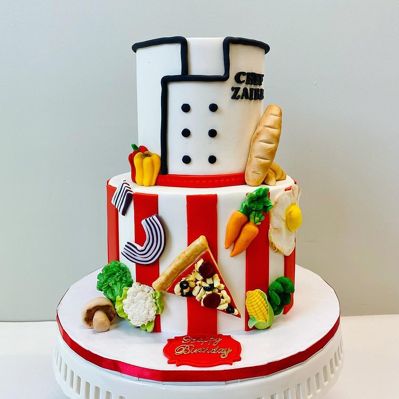Chef Coat Cake by Luna Sweets