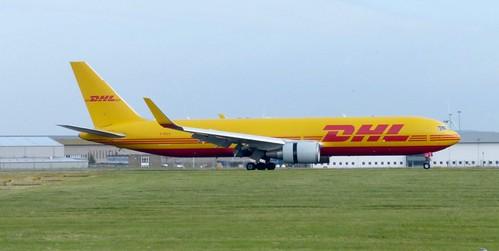 D-DHLE 'DHL Airways'. Boeing 767-3JHF on Dennis Basford's railsroadsrunways.blogspot.co.uk'