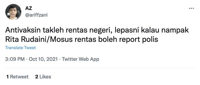 Netizen Suruh Report Polis Kalau Nampak Rita Rudaini Rentas Negeri. Ini Reaksi Rita