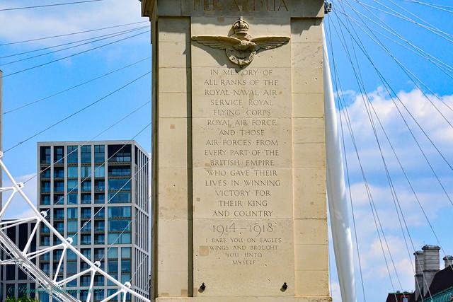 London - 5 Jun 21 - Victoria Embankment - Royal Air Force Memorial