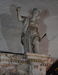 Justice on the Soame memorial, 1620s