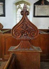 bench end (William Perry of Clare, 1843)