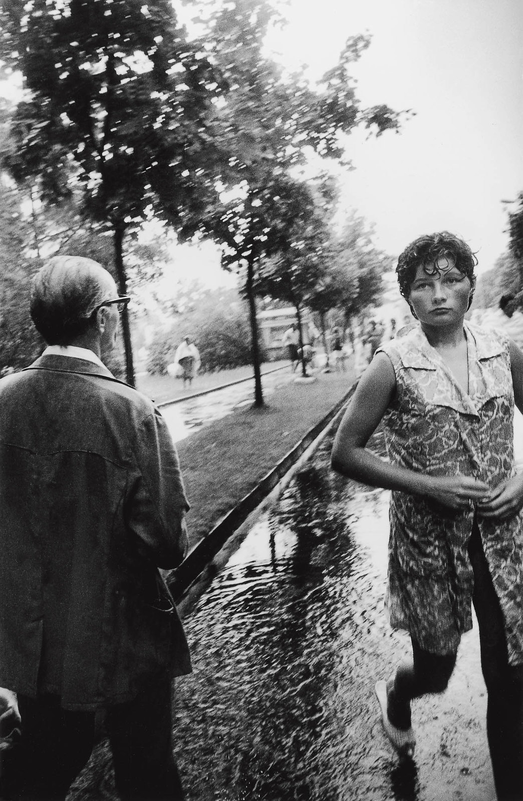 1971. Паланга. Дождь