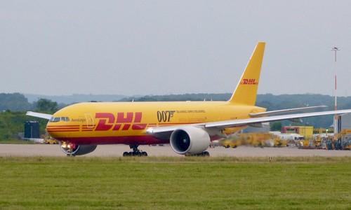 D-AALM 'DHL Airways'. Boeing 767-FZN on Dennis Basford's railsroadsrunways.blogspot.co.uk'