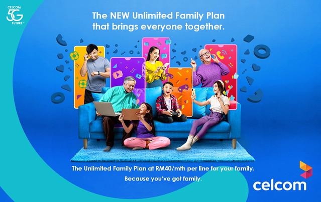 Celcom Lancar Pelan Keluarga Tanpa Had Pertama Di Malaysia