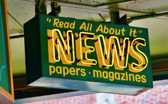 HISTORIC NEWS STAND SIGN
