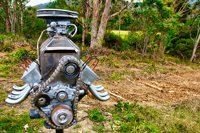 Mailbox with attitude in the country
