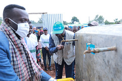 As pert of the droght response  UNICEF with CERF fund implemented water supply expansion project by installing emergency water treatment kit