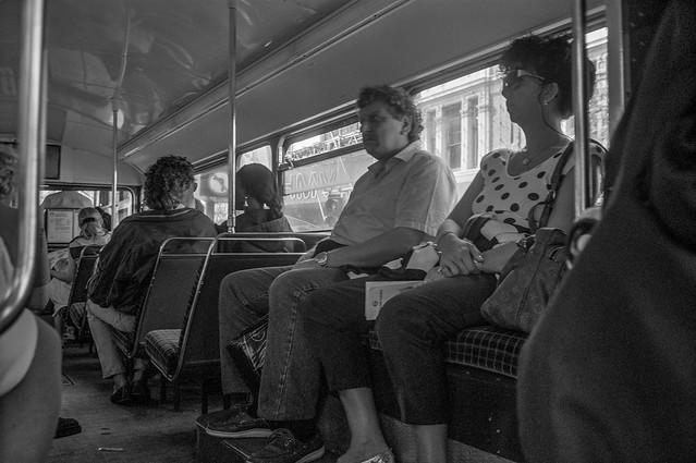 Passengers, Bus, Camden, 1991, 91-8r-32