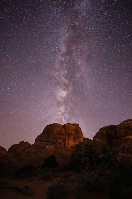 Milky Way over Arches NP