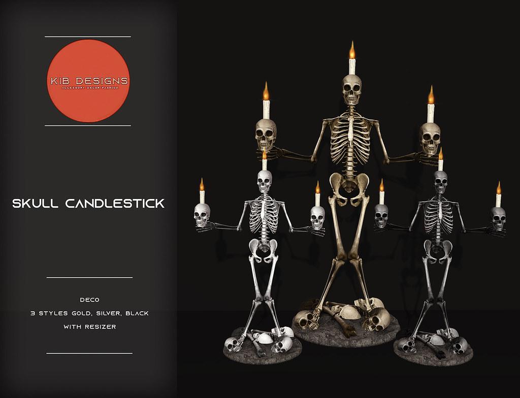 KiB Desings - Skull Candlestick @Hallow Manor