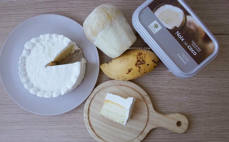 Coconut Mango Mousse Cake Recipe